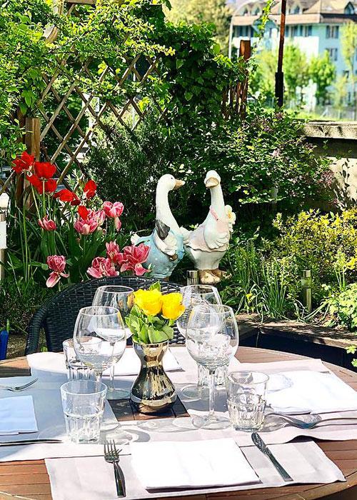 restaurant avec terrasse à Lausanne